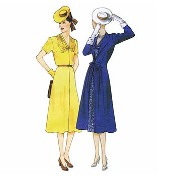 1940s COCKTAIL DRESS PATTERN Asymmetrical Drape Vogue 2787 Original Design 1948 Reissue Bust 34 36 38 UNCuT Women's Vintage Sewing Patterns