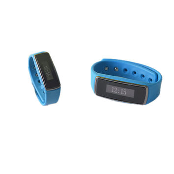 V5 Smart Bluetooth 4.0 Sport Tracker Watch Bracelet Pedometer Step Calorie Counter Blue