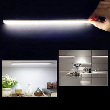 USB 21LED Touch Sensor Night Light Ultrathin LED Strip Bar Lamp Reading Work Desk Closet Cabinet Lamp 30cm