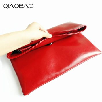 100% Natural Cowhide Genuine Leather Women's Clutch Bag Envelope Bags Designer Flap Bags