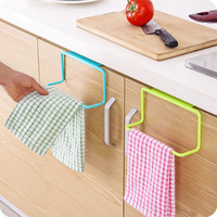 1Pc Candy Colors Over Door Tea Towel Holder Rack Rail Cupboard Hanger Bar Hook