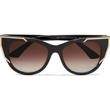 Thierry Lasry - Butterscotchy cat-eye acetate and metal sunglasses