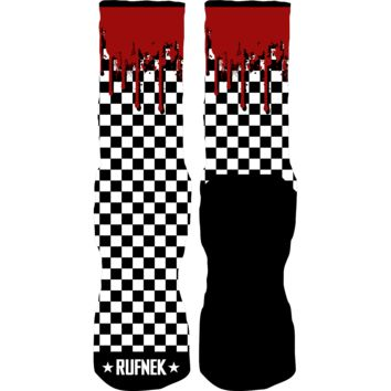 Rufnek Hardware Checkerboard Double Nickel 10's Socks