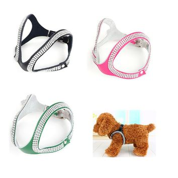 Bling Rhinestone Dog Harness For Dogs Collar Pet Safety