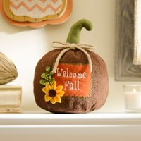 Welcome Fall Burlap Pumpkin | Kirklands