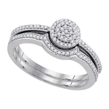 Diamond Miro-pave Set in 10k White Gold 0.25 ctw