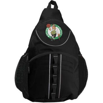 NEW Boston Celtics Team Sport Slingbag Backpack Large Size Black - NBA STORE