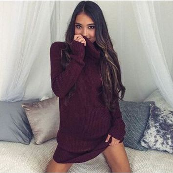 LMFMS9 Dress Winter Sexy Long Sleeve Sweater [31300026394]
