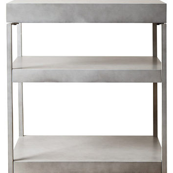 Abbyson Living Middlebury Antiqued 3-Shelf Console Table - Grey
