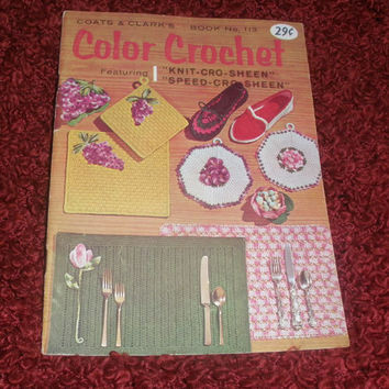 Coats Clarks Color Crochet 1959 Crochet Patterns Sewing