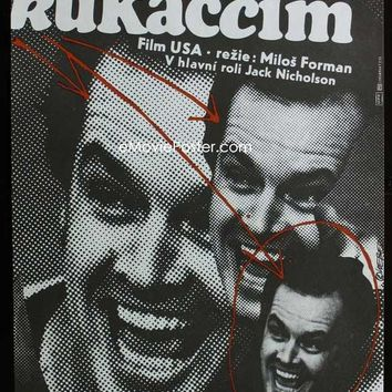 One Flew Over The Cuckoo's Nest (Czechoslovakian) 27x40 Movie Poster (1975)