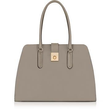 Furla Sabbia Leather Large Milano Tote Bag