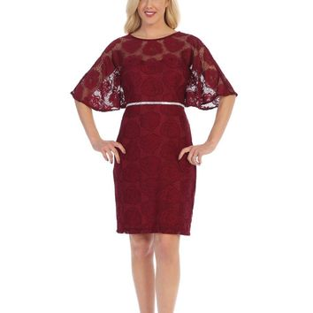 Short Plus Size Mother of the Bride Dress