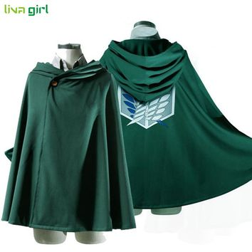Anime Shingeki Kyojin Cloak Clothes Unisex Coser Cloak Cartoon Costumes Cosplay Attack Titan Women