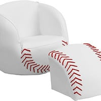 Flash Furniture Kids Baseball Chair and Footstool