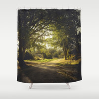 On the road again Shower Curtain by HappyMelvin