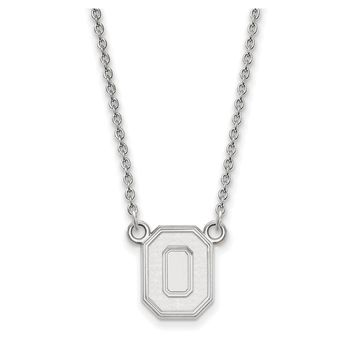 NCAA 14k White Gold Ohio State Small Pendant Necklace
