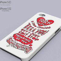 5SoS Lyrics , 5 second of summer Popular Phone case for iPhone 4/4s, iPhone 5/5s/5c, Samsung Galaxy s3,s4,s5