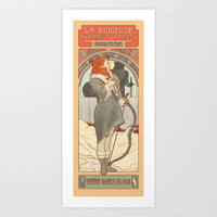 The flame-haired spearwife Art Print by ElinJ