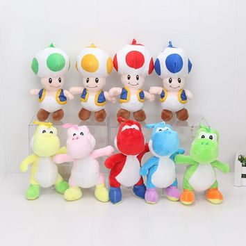 Super Mario party nes switch 7'' 18cm  Bros Plush Toy Yoshi Mushroom Toad  Plush Stuffed Toys Dolls For Children Peluche AT_80_8