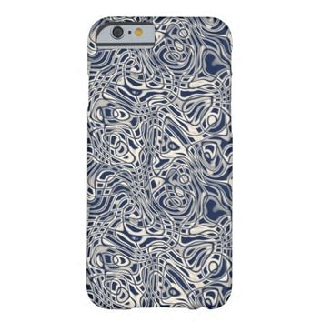 Psychedelic Abstract Wavy Stripes Pattern Barely There iPhone 6 Case