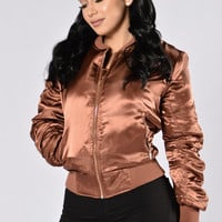 Celebrity Status Jacket - Brown