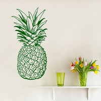Pineapple Wall Decals Pine Fruit Food Kitchen Wall Decor Cafe Vinyl Sticker Home Decor Kids Birthday Interior Design Living Room Decor KG913