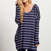 Navy-Blue-Striped-Dolman-Long-Sleeve-Top