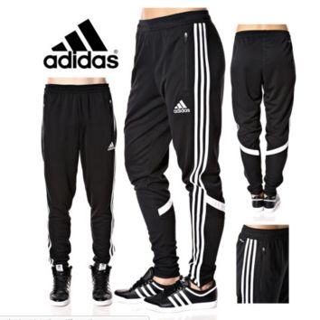 Adidas Soccer Pants Condivo 14 Slim Fit Training Climacool Black Skinny Athletic