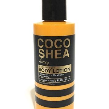 Bath & Body Works COCO SHEA HONEY Seriously Soft Body Lotion 3 oz Travel Size