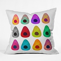 Elisabeth Fredriksson Colored Avocados Throw Pillow