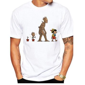 Guardians of the Galaxy Groot and Pinocchio Parody T-Shirt