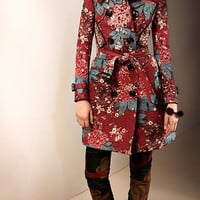 Patchwork Quilted Trench Coat