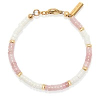Women's Heishi Bead Collection - Pink, White and Gold