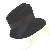 Expresso Brown Hat Cloche Ladies Millinery Henry Pollack New York
