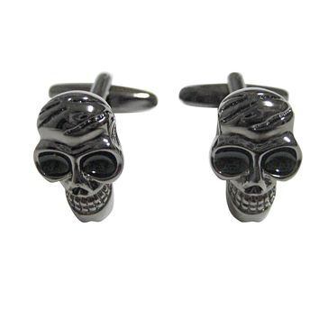 Dark Grey Toned Skull Cufflinks