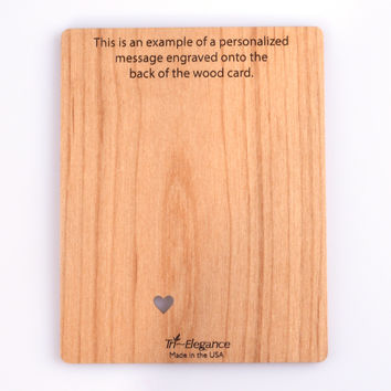 Wood Mini Card Personalized Message (Add On)