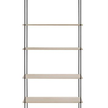 "Wood 6 Tier Wall Shelf 69""H"