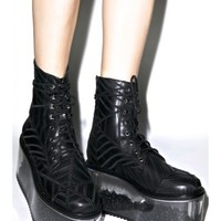 Dolly Bae Harlots Web Boots | Dolls Kill