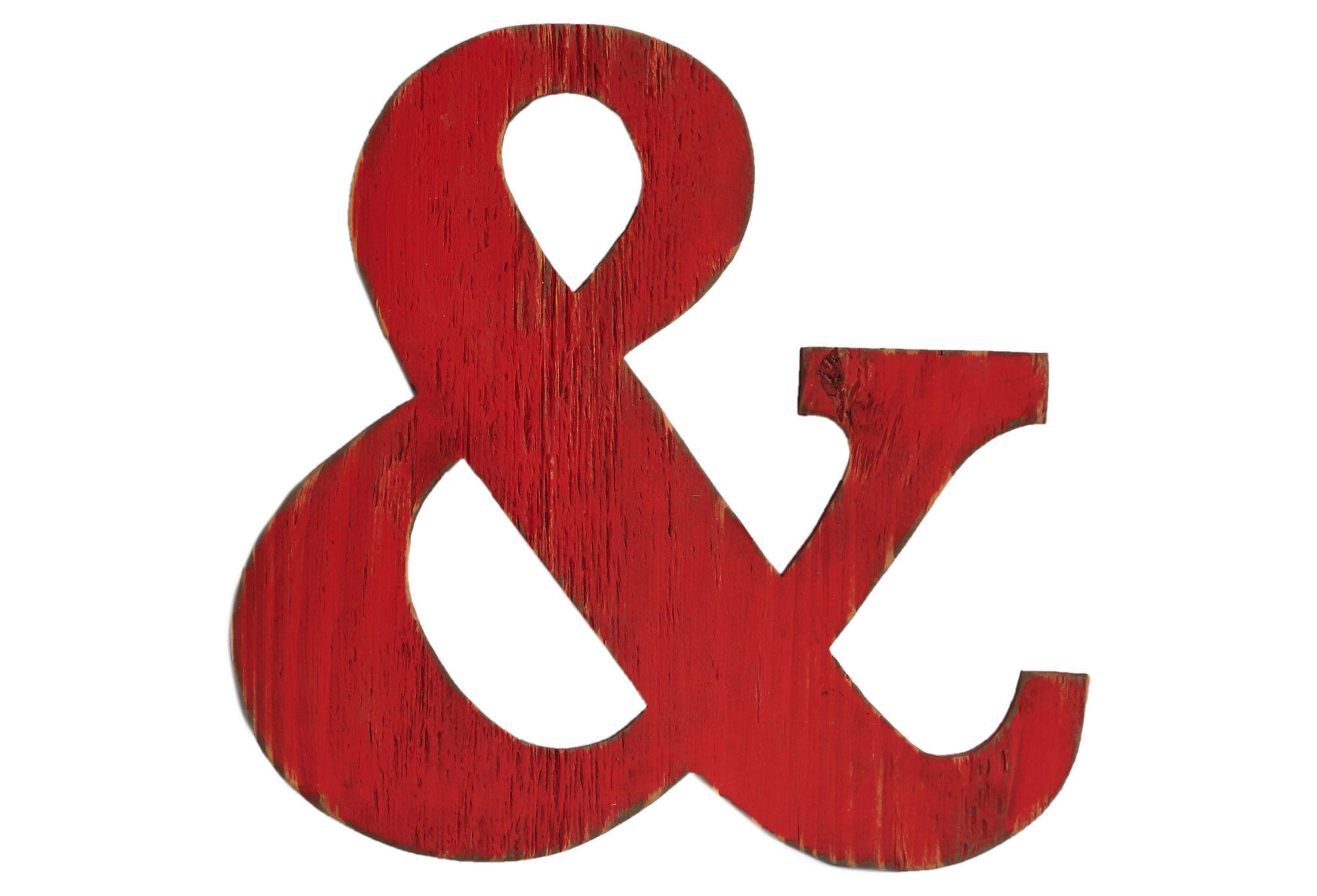 24 ampersand decor brick orange signs from one kings lane for Ampersand decor