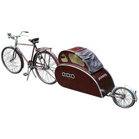 Art Deco Modernist Bike with Teardrop Trailer, 1940s