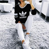 """Adidas"" Casual Print Top Sweatshirt Sweater"