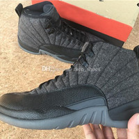 High Quality Retro 12 Wool Men Basketball Shoes 12s Wool Grey Black Men And Women 12s Sports Sneakers With Shoes Box