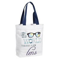 Inspirational Tote, See The World Thru A New Lens Graphic
