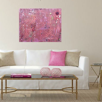 Red canvas art. Small 8x10 canvas art. Original painting. Red art. Textured art. Embellished art. Abstract. Wall art.Mixed Media.Maroon.Mica