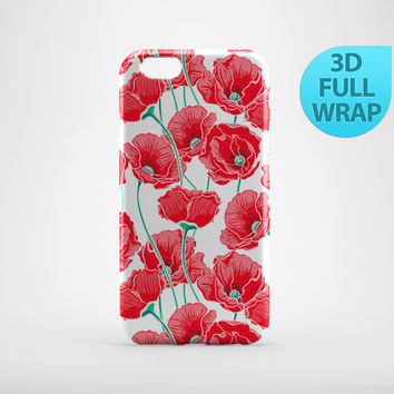 Floral Poppies Case for iPhone 4 4s 5 5s 5c 6 6s Plus iPad 2 3 4 Air 1 Mini Samsung Galaxy S6 Edge S5 S4 Note 4 3 2