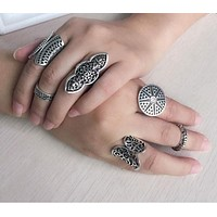 Vintage Silver Plated Boho Rings (5 Styles)