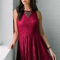 Carmen Lace Skater Dress