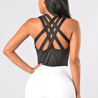 No Secret Bodysuit - Black