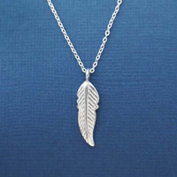 All Sterling Silver, Bird, Feather, Necklace